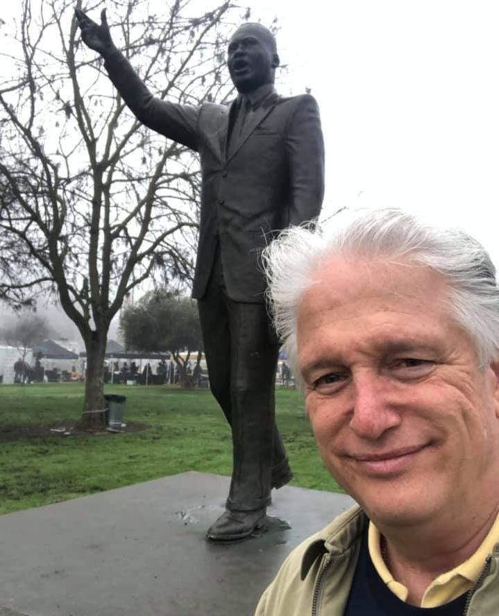 Dr. Bob and MLK Statue